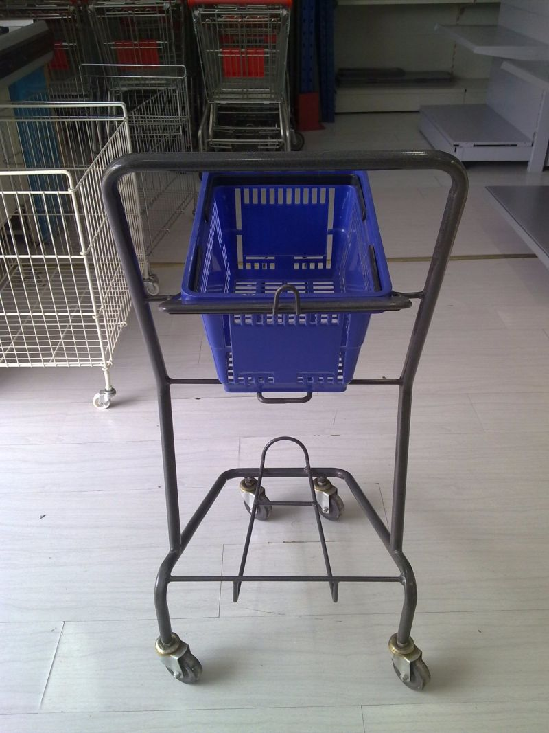 Store Rolling Go Cart Hand Basket Trolley