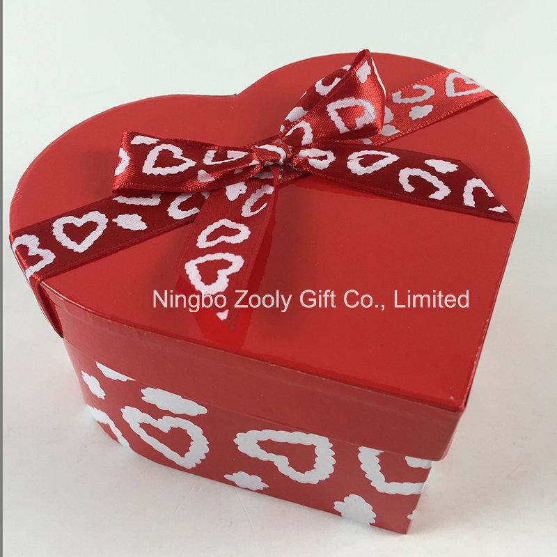 Custom Printing Ribbon Round Heart-Shaped Square Mixed Paper Gift Boxes Set