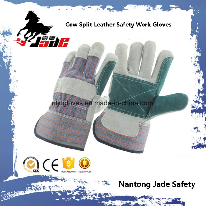 Double Palm Industrial Safety Cow Split Leather Work Glove