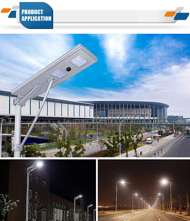 IP65 10W Outdoor LED Lamp Integrated Solar Street Light