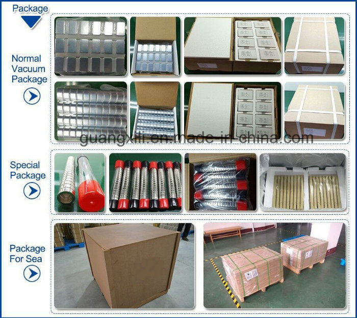 Magnetic Materials Sintered Magnets Round for Motors/Turbines