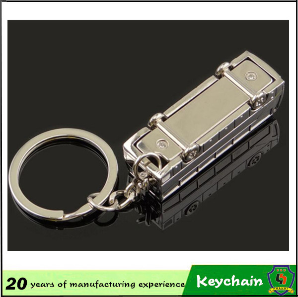 Hot Sale Vehicle Bus Key Chain with Laser Logo
