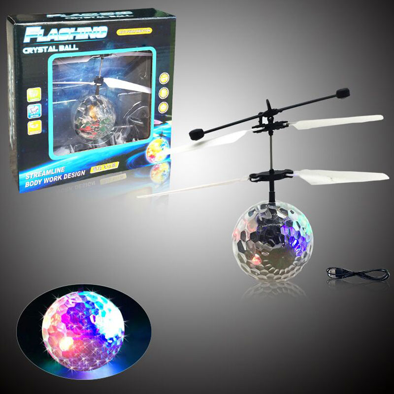 Flying Flash Ball Crystal Celestial Body Novel Electric Inductive Toy