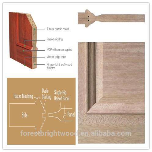 2015 Natural Elegant and Luxury Solid Wood Craftsman Doors