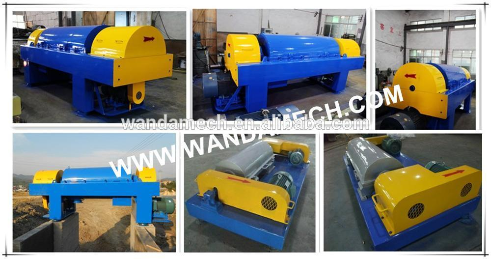 Waste Oil Water Separator Horizontal Decanter Centrifuge Machine