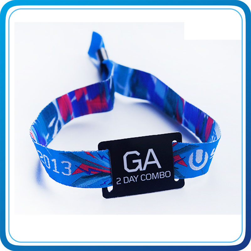 Promotional Product Custom MIFARE Woven Wristband