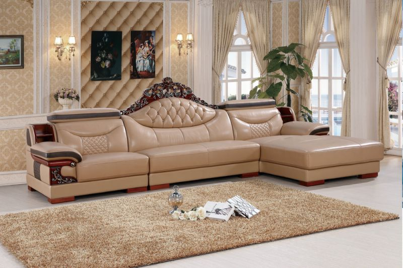 Europe Leather Sofa, Living Room Furniture, Sofa (SA31)