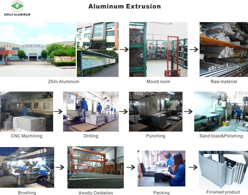 ISO Black Anodized LED Aluminum Extrusion for Street Lighting