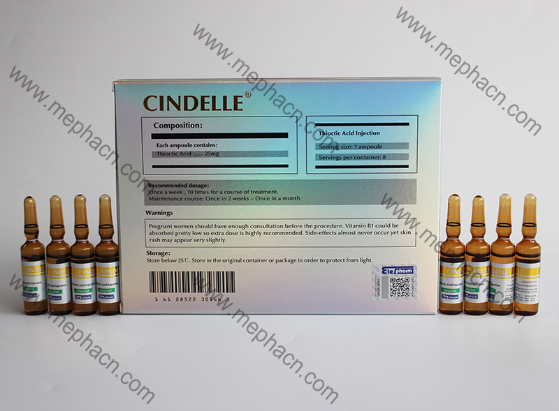 Glutathione Injection 3000mg+Vc Injection +Cindelle
