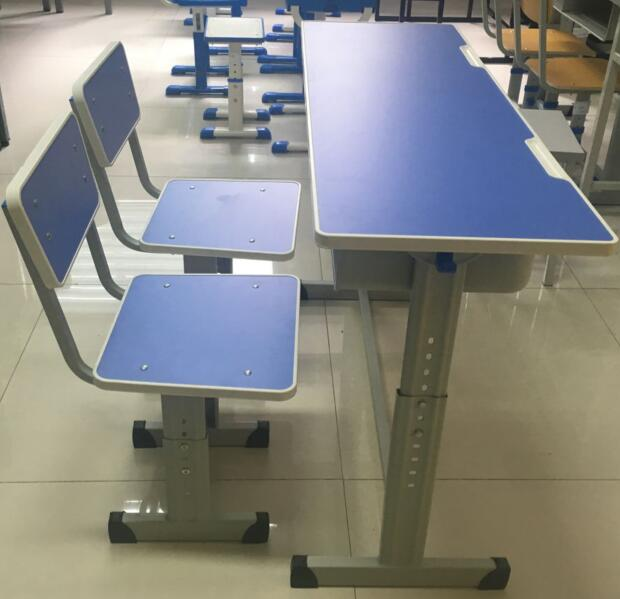 Height Adjustable Student Desk and Chair with Good Quality
