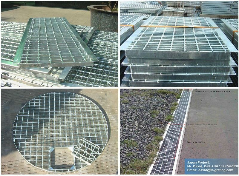 Black Serrated Steel Grating for Construction Projects