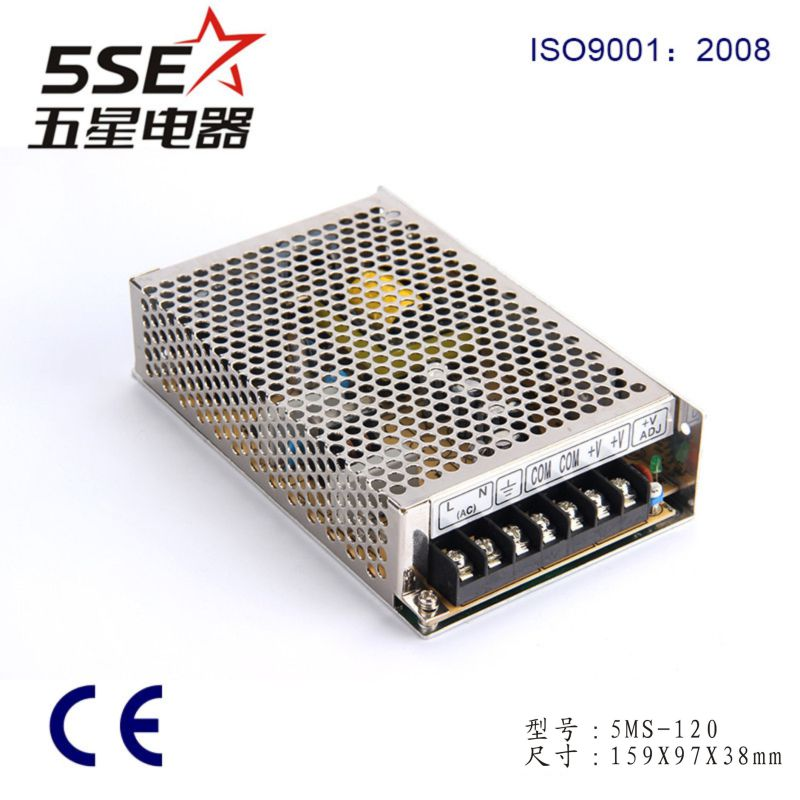 5ms-120-15 120W 15V 8A Mini Size Power Supply