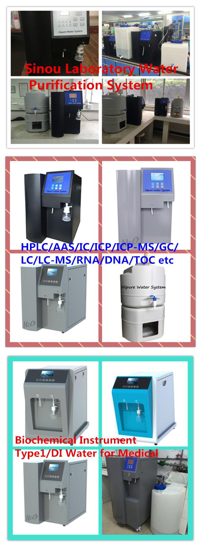 Biochemical Type 1 Deionized Di Water Instrument for Lab 75