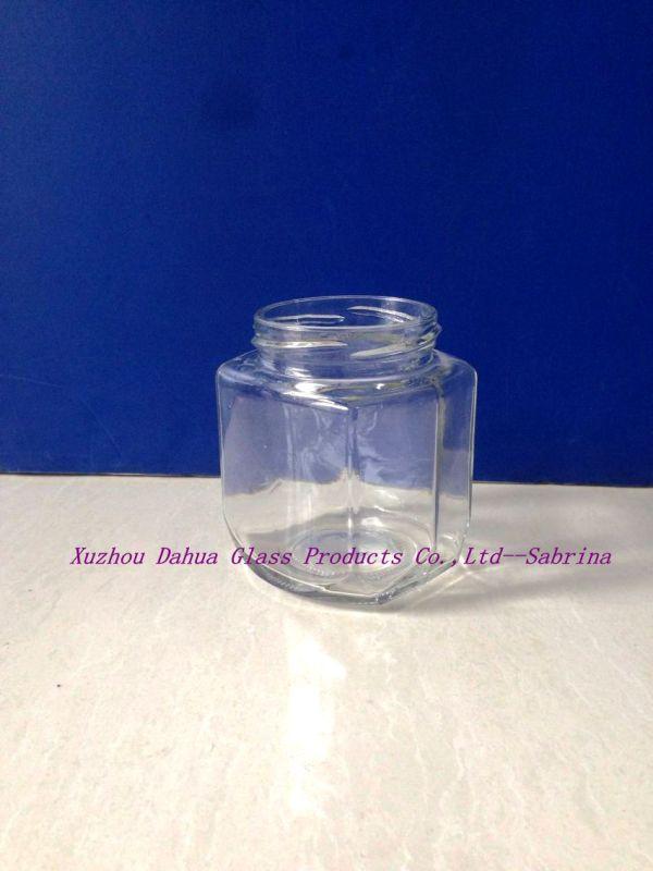 250ml Square Shape Glass Pickle Jar Honey Jar with Tin Lid