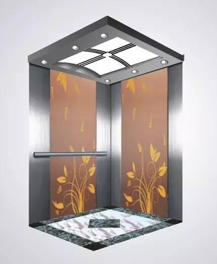 Passenger Elevator Lift Mirror Etched Mr & Mrl Aksen Ty-K242