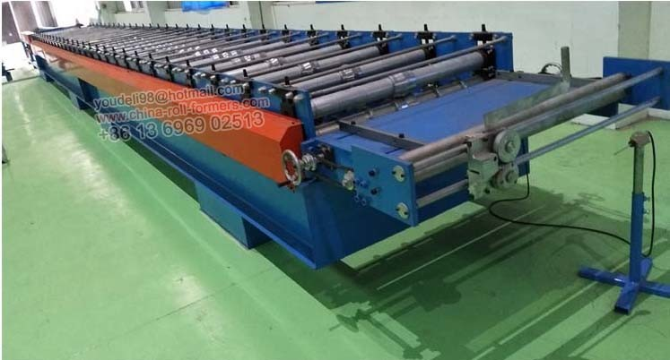 Export Commodities Corrugated Roofing Roll Forming Making Machine Metal Wave Roof Panel Machine