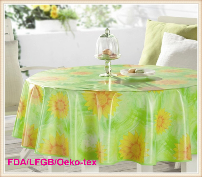 Printed Tablecloth with Nonwoven Backing (TJ0009-A)