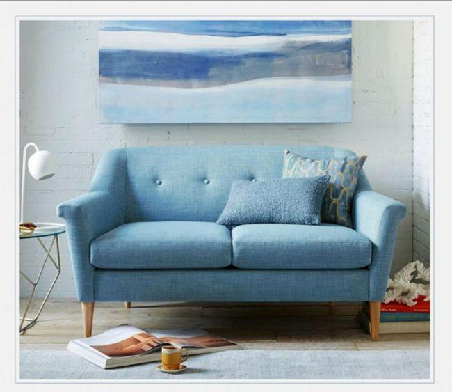 Modern Japanese Style Living Room Simple Fabric Sofa