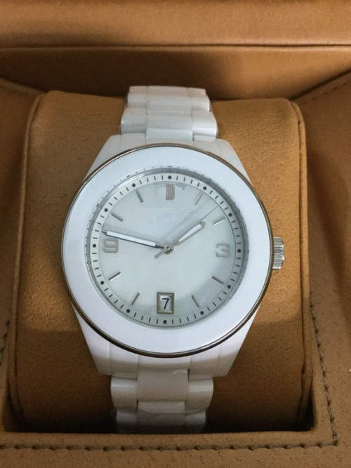 White Ceramic Watch with White Bezel