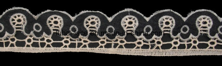 Wholesale Chemical Embroidery Laser Cotton Lace for Decoration