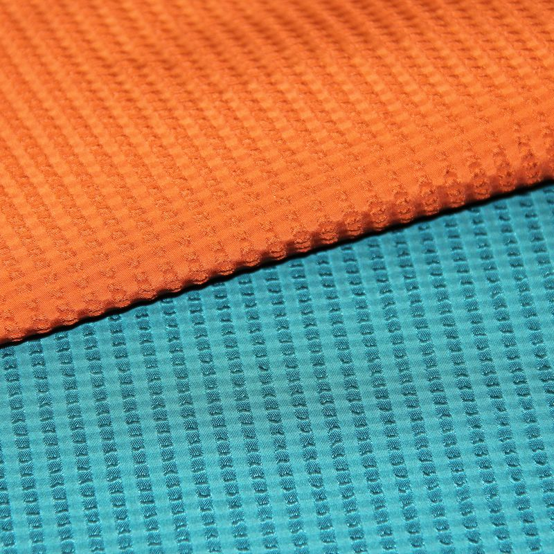 Polyester Jacquard Memory Fabric with Bubble Grid Pattern for Garment