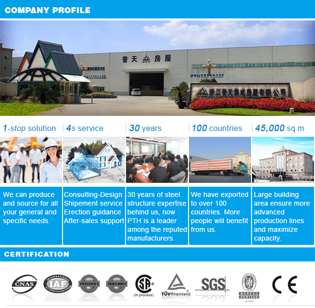 EPS Sandwich Wall Panel Prefabricated Steel Building