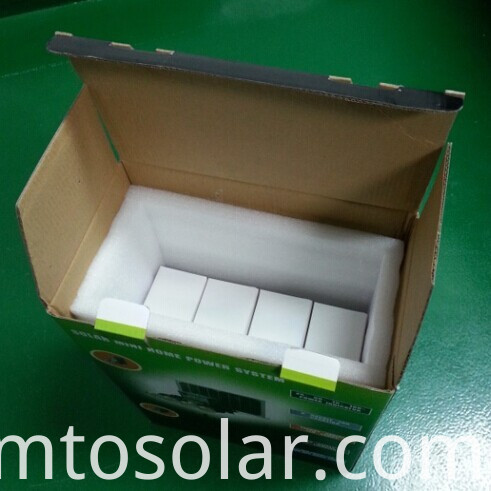 10w mini LCD solar home lighting kit