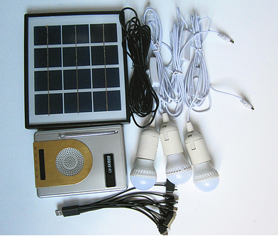 Solar Power Radio LED Lighting System Kits