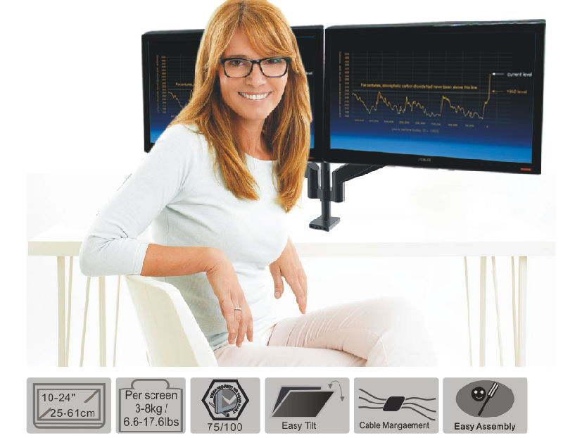 Gas Lift Desktop Mount (LCD 3002)