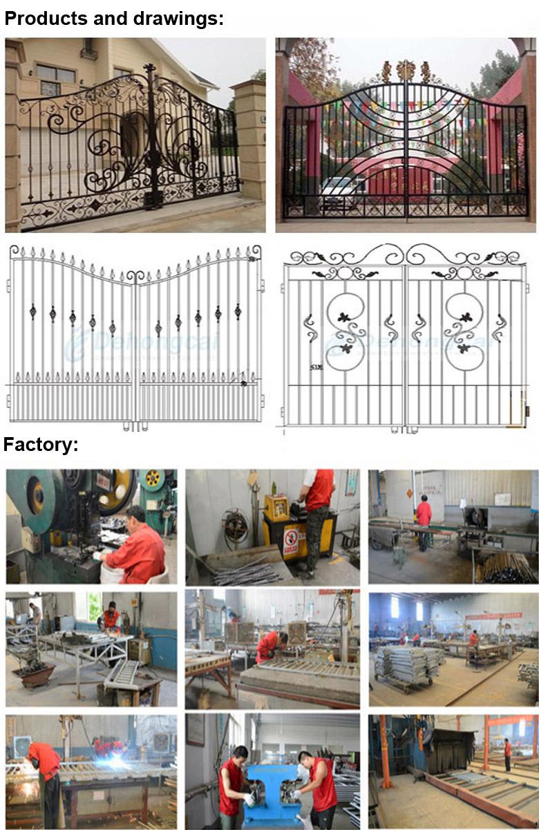 Elegant Hight Quality Wrought Iron Guard Gate