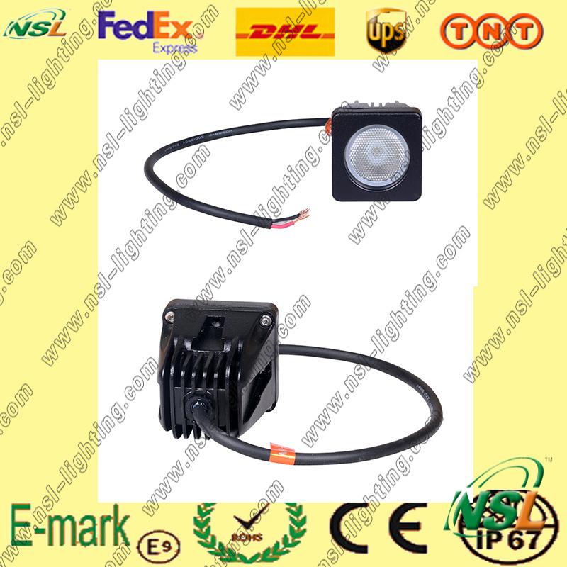 Hot Sale! ! 10W LED Work Light, 850lm LED Work Light, 12V DC LED Work Light for Trucks