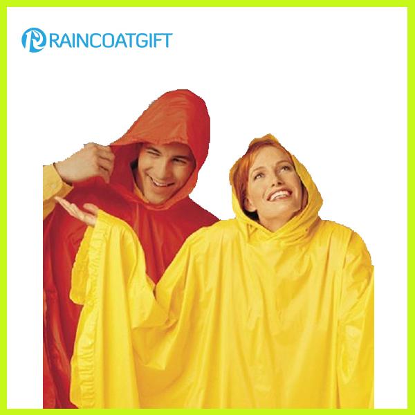 Custom Paris Logo Printing PVC Rain Poncho
