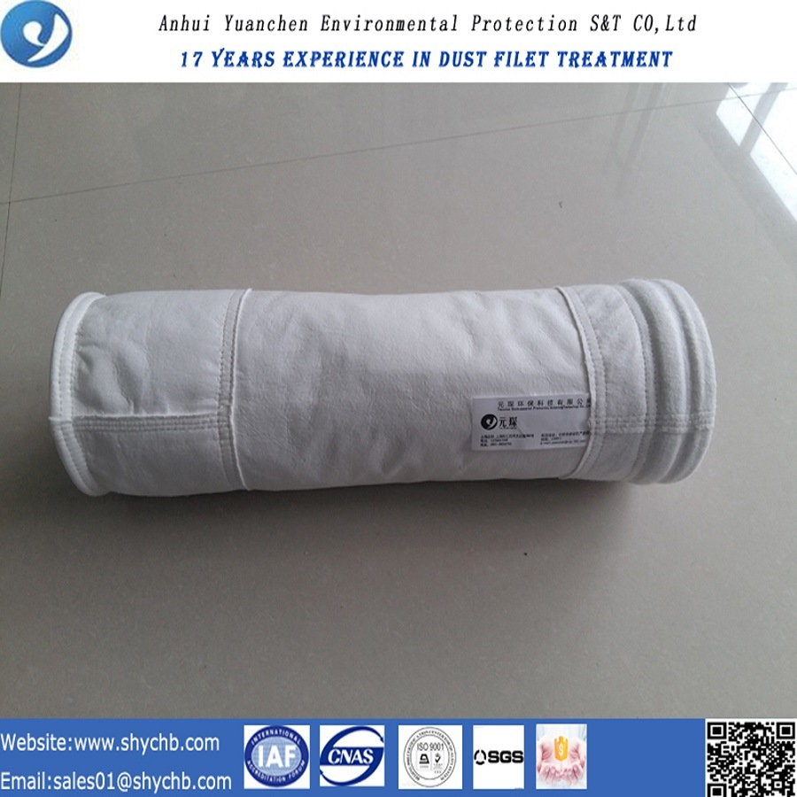 Nonwoven Needle Punched Filter Water and Oil Repellent PTFE Dust Filter Bag for Industry