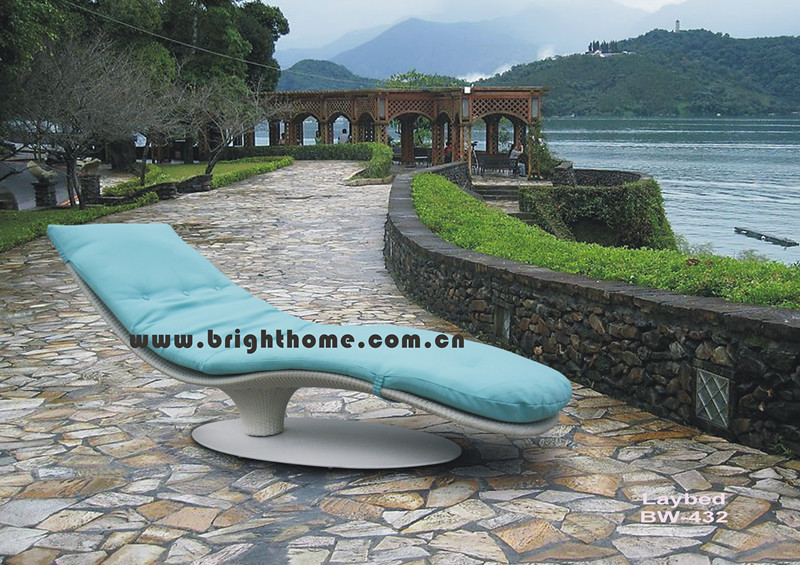 Special Design Sun Bed Lounge Wicker Rattan Outdoor Furniture