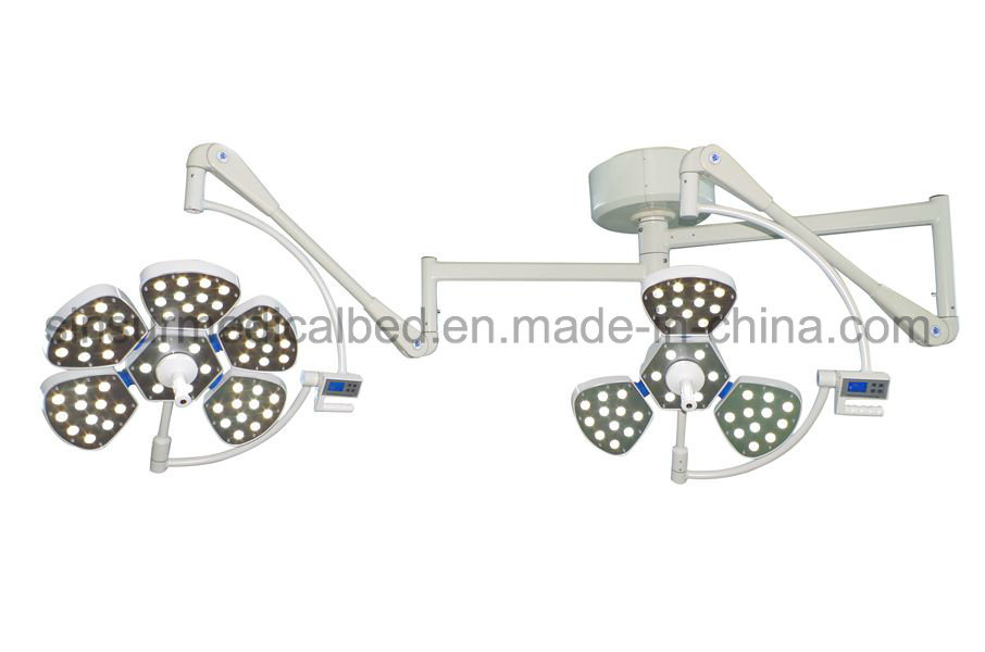 Hospital Equipment Double Head Shadowless Surgical LED Ceiling Operating Light