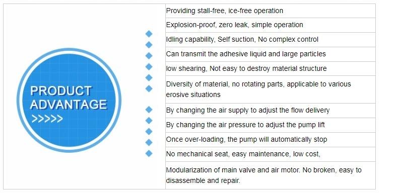 Self Priming Air Double Diaphragm Acid Resistant Chemical Pump