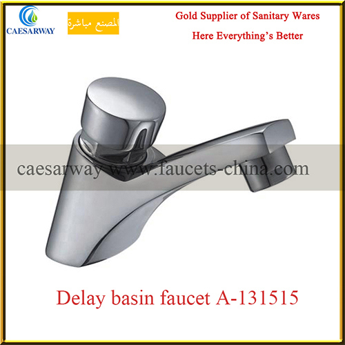 Brass Sanitary Ware Time Delay Cold Water Basin Tap
