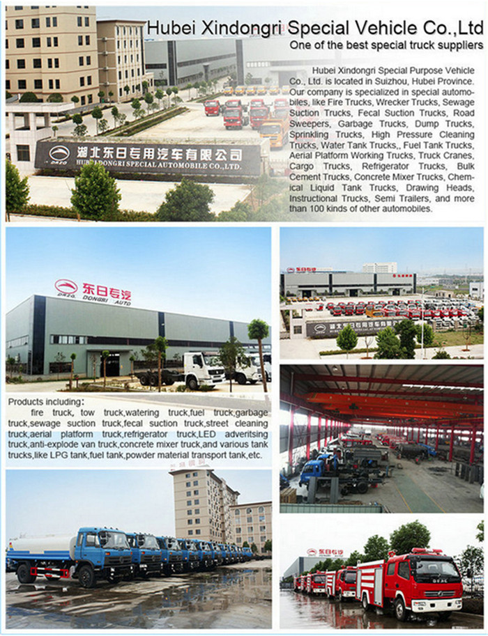 4cbm Suction Sewage Tanker Truck Dongfeng Model