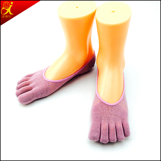 Women Toeless Socks Thin Simple Style Indoor Wear