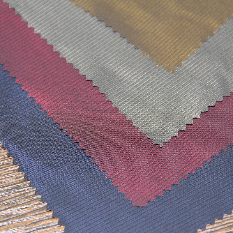 Polyester Striped Semi Memory Fabric for Casual Jackets