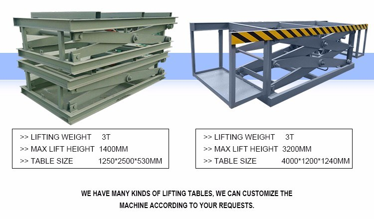 Hydraulic Woodworking Lift Table for Plywood Making Machine