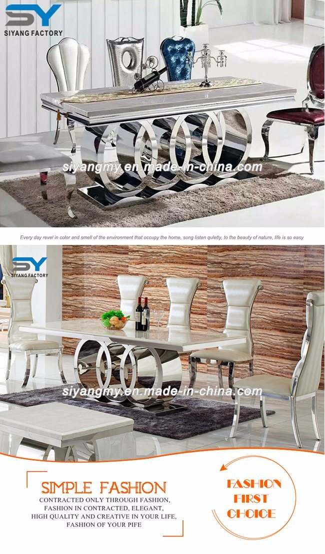 Home Furniture Banquet Marble Dining Table Restaurant Dining Chair Table