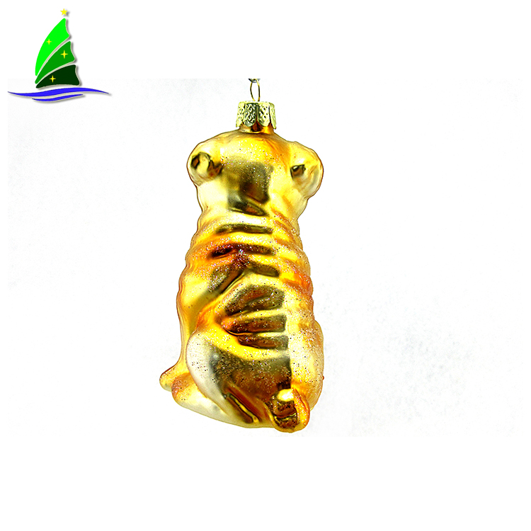 Golden dog Glass Ornaments