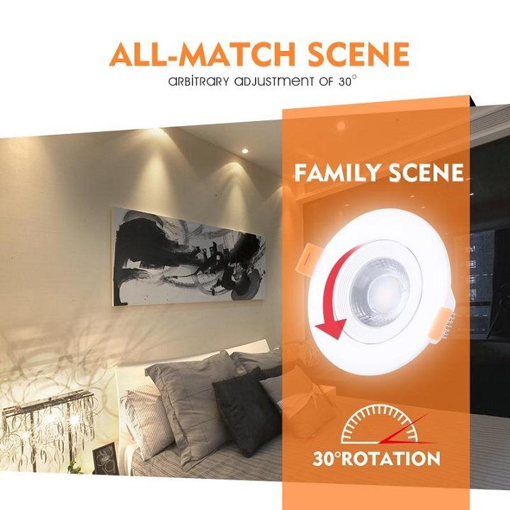 5W-15W Rotatable COB LED Ceiling Spotlights
