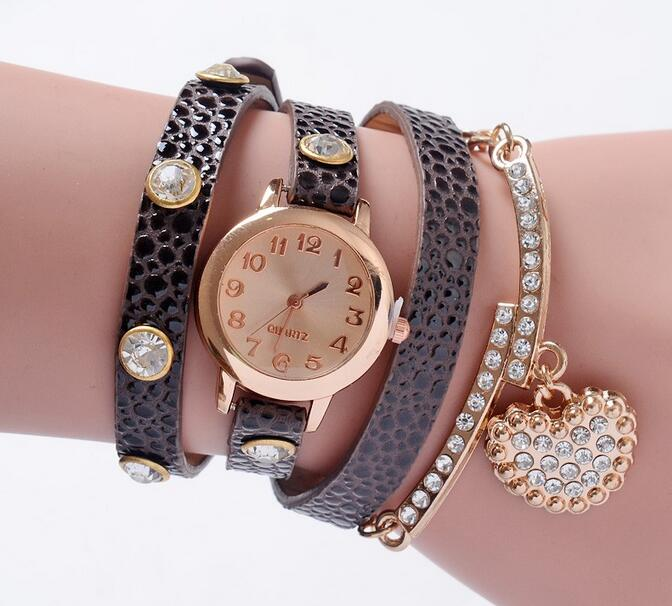 Yxl-399 Drop Shipping Vintage Reloj De Pulsera Watches Women Leather Strap Hot Sell Bracelet Wrist Watch Ladies Quartz Weave Bracelet Watch