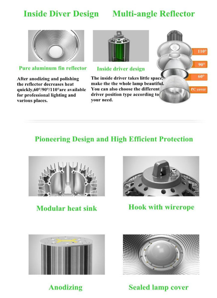 400W Meanwell Driver Brideglux Chip LED High Bay Light