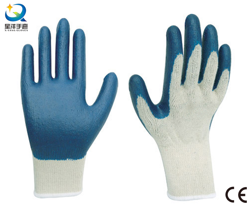 Latex Palm Coated, Smooth Finish Work Gloves