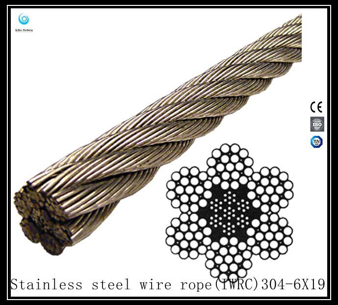6X19 Iwrc 304 Stainless Steel Wire Rope