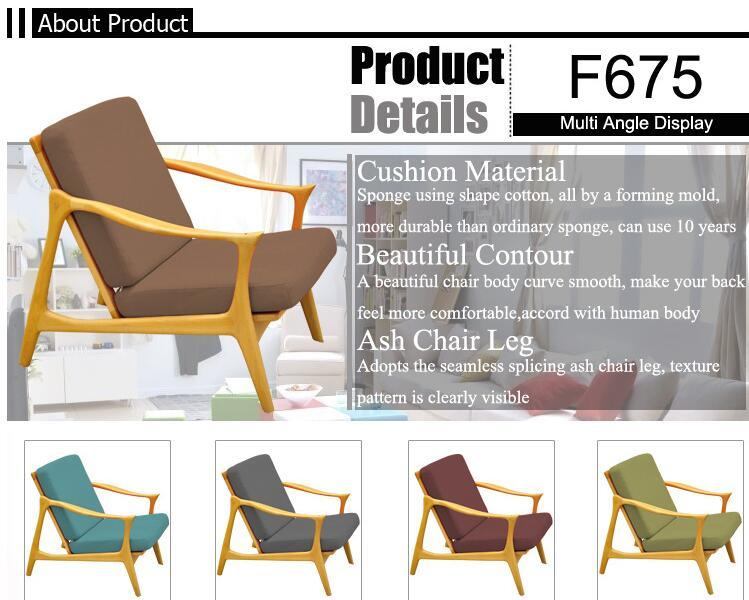 Fashion Orange Color Bedroom Cheap and Good Design Lounge Chair