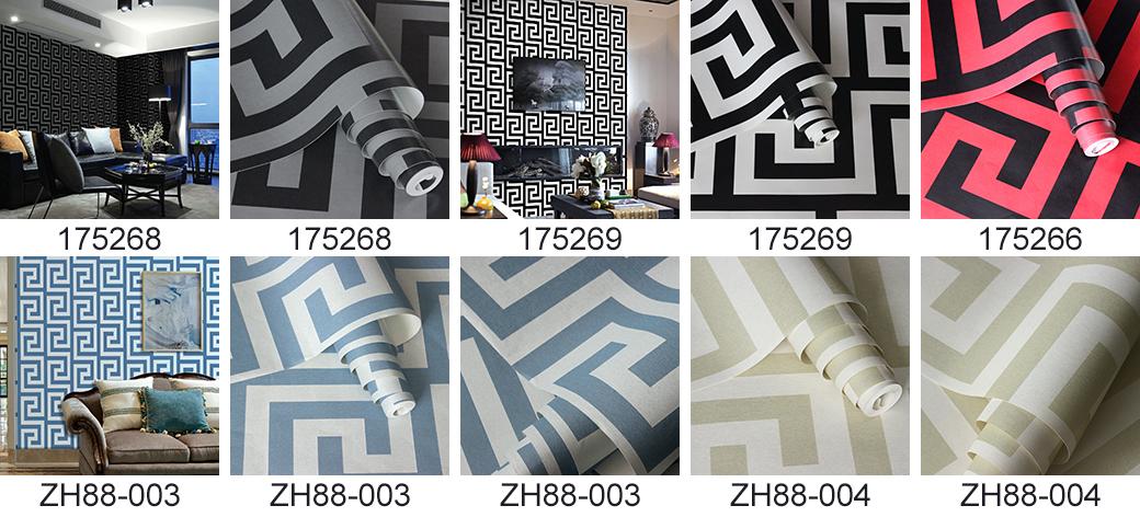 Interior Decoration Waterproof PVC Vinyl 3D Wall Paper